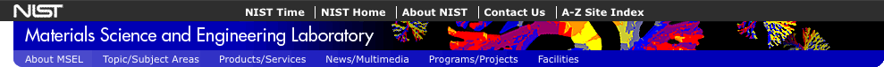 NIST/MSEL nav links